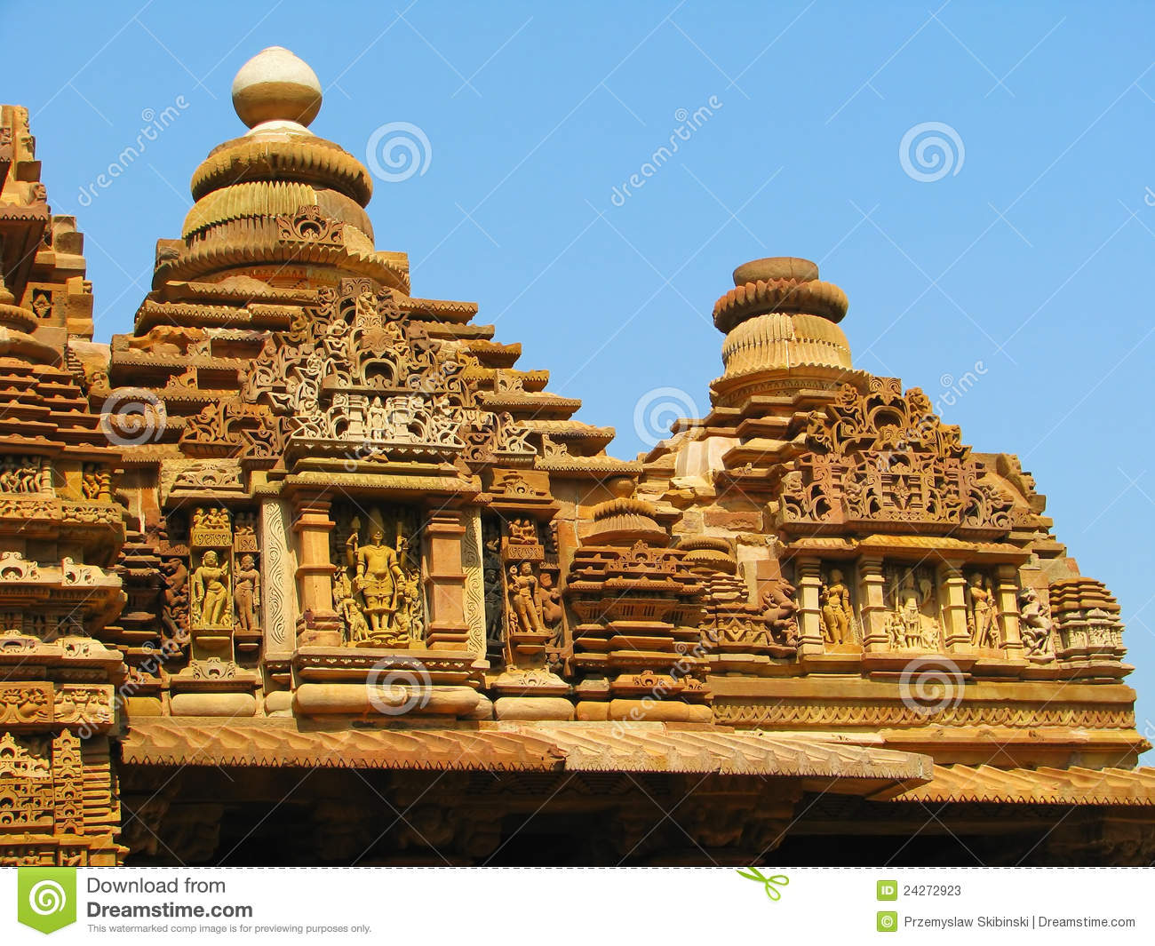 Stone carved temple with erotic sculptures stock image