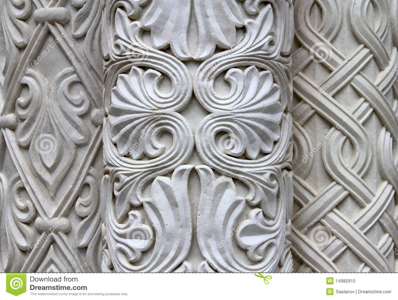 Stone carving stock photo image of ancient gray