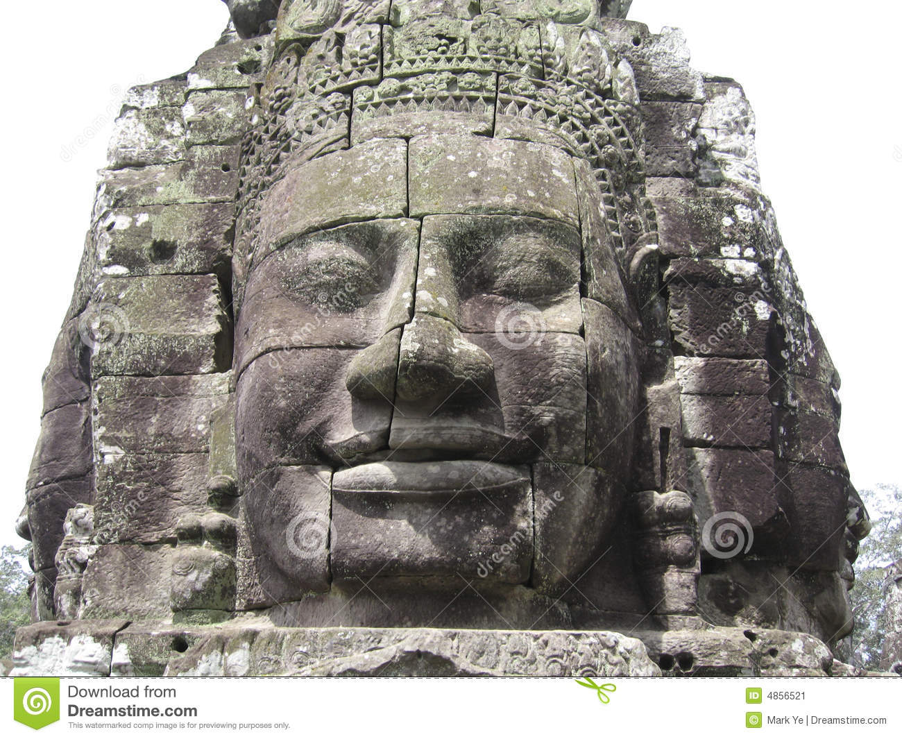 Stone carving at angkor wat stock image