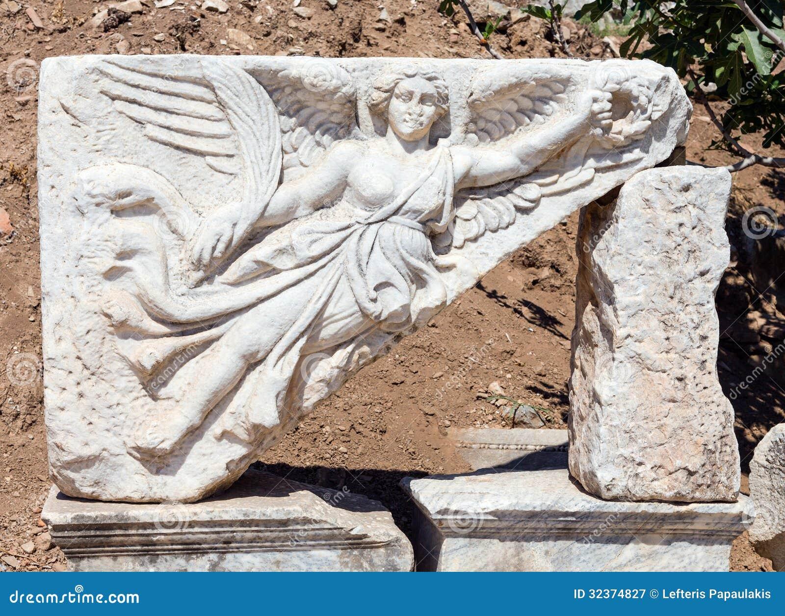goddess nike at ephesus turkey stock photo image 45532513