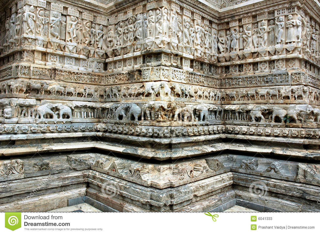 Stone carving at jagdish temple udaipur stock image