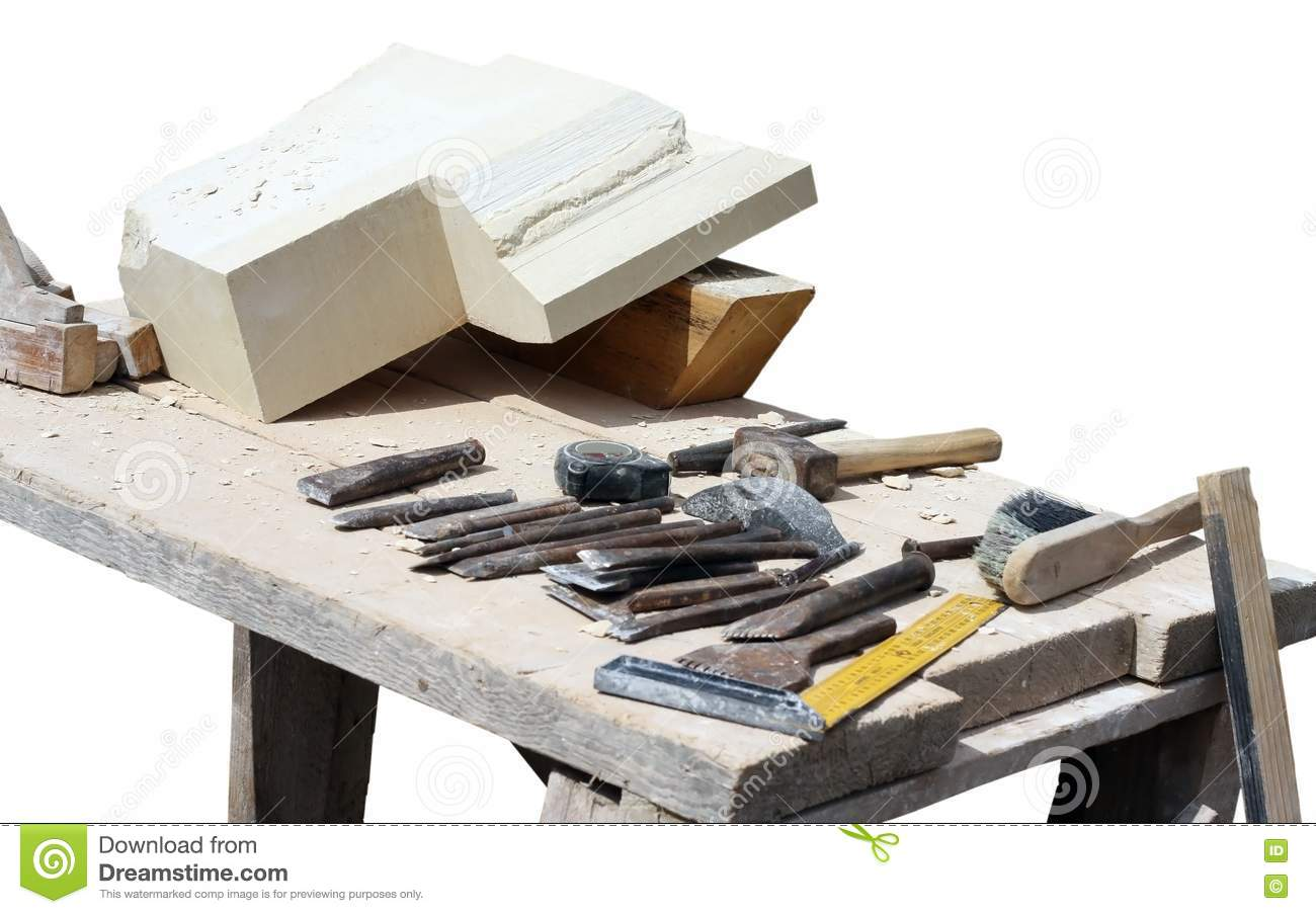 Stone carving table