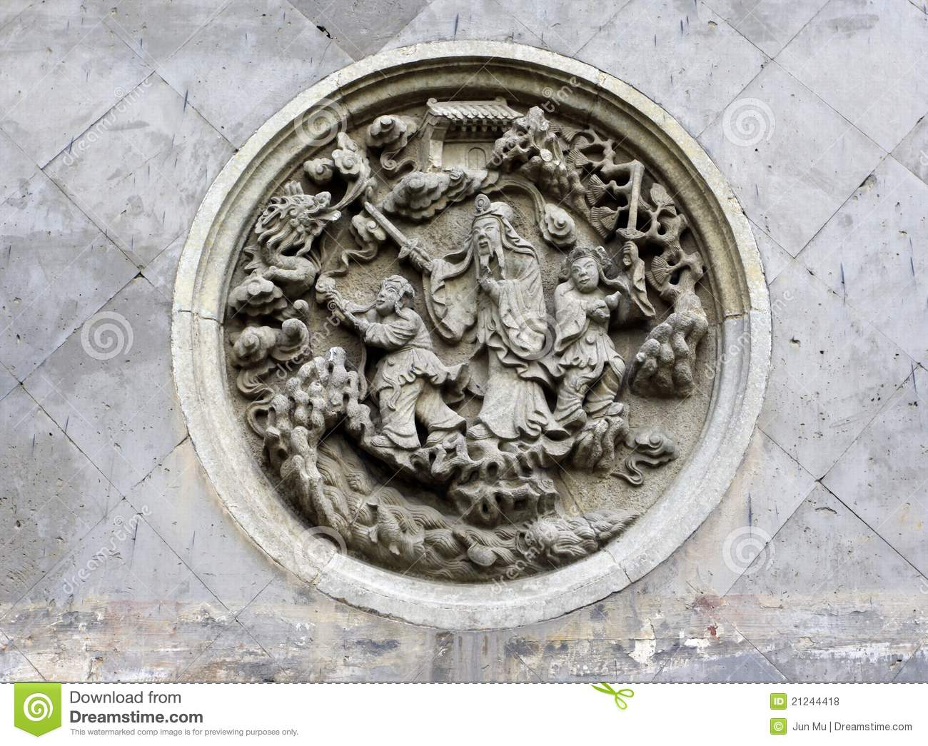 Stone carving on the wall royalty free stock photos for Exquisite stone