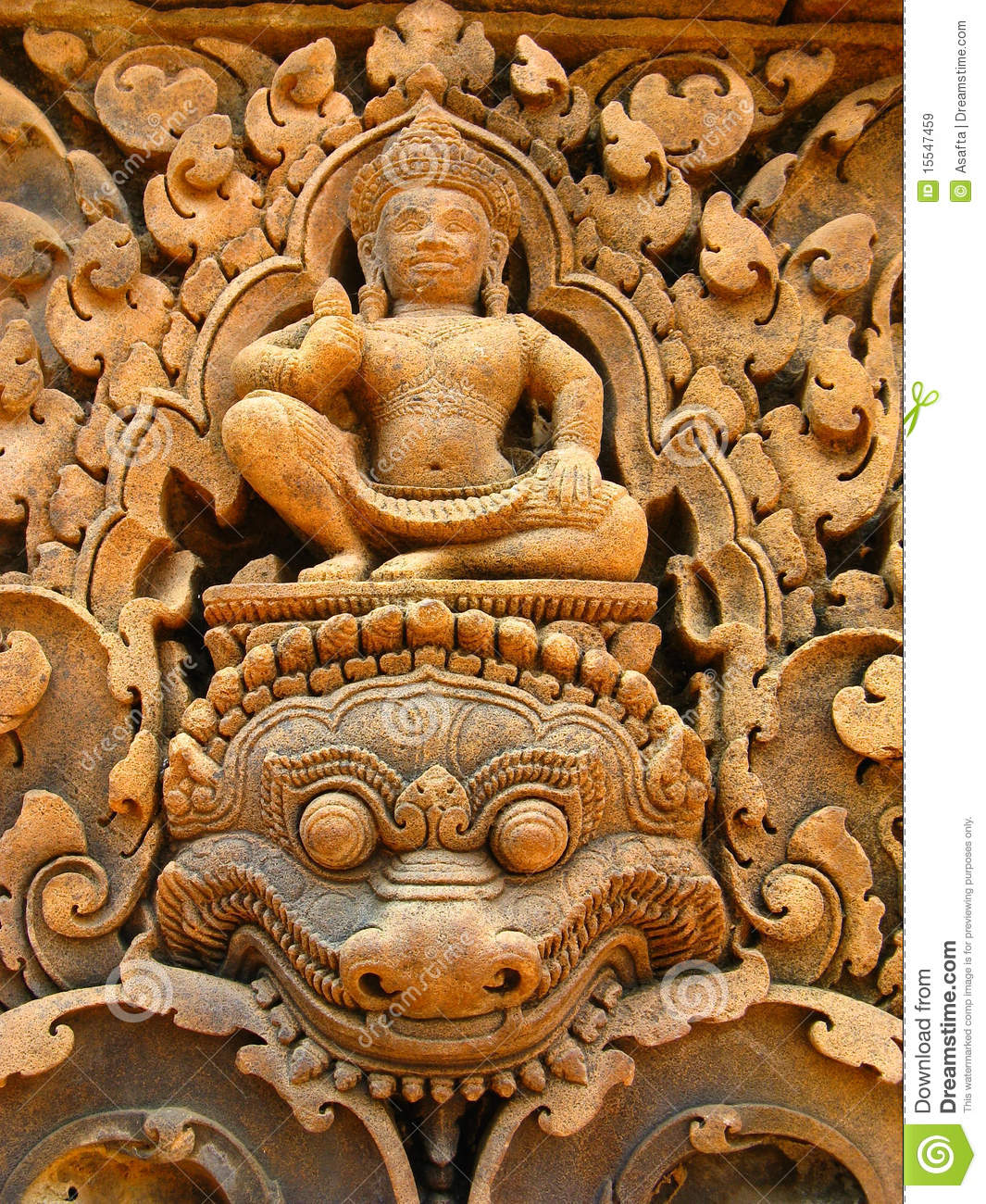 Stone carvings angkor wat royalty free stock images