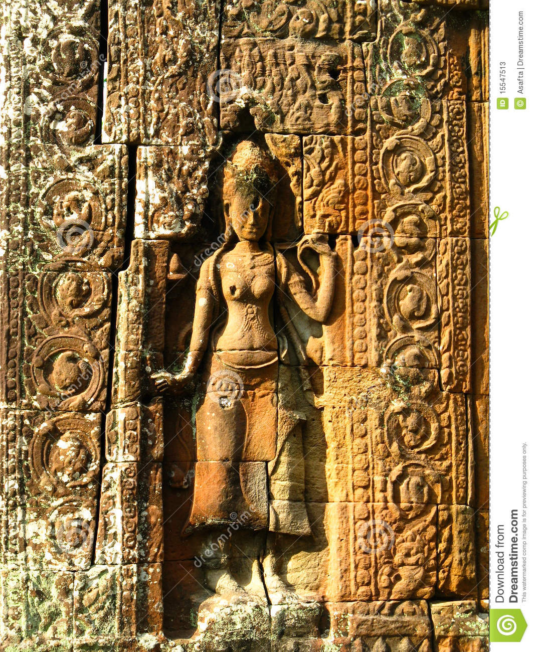 Stone carvings angkor wat stock photos image