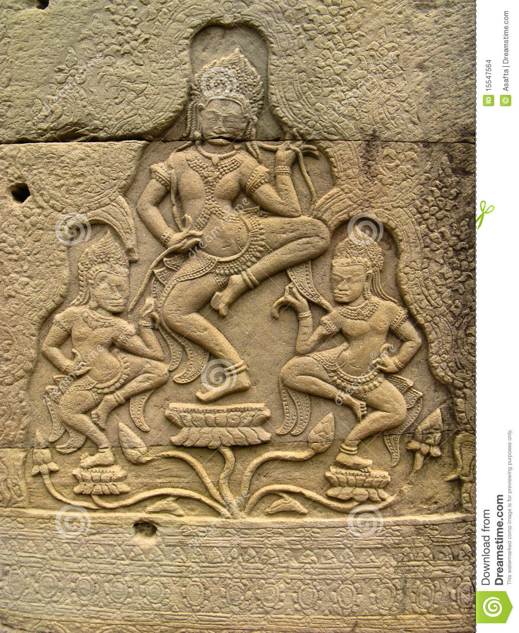Stone carvings angkor wat stock images image