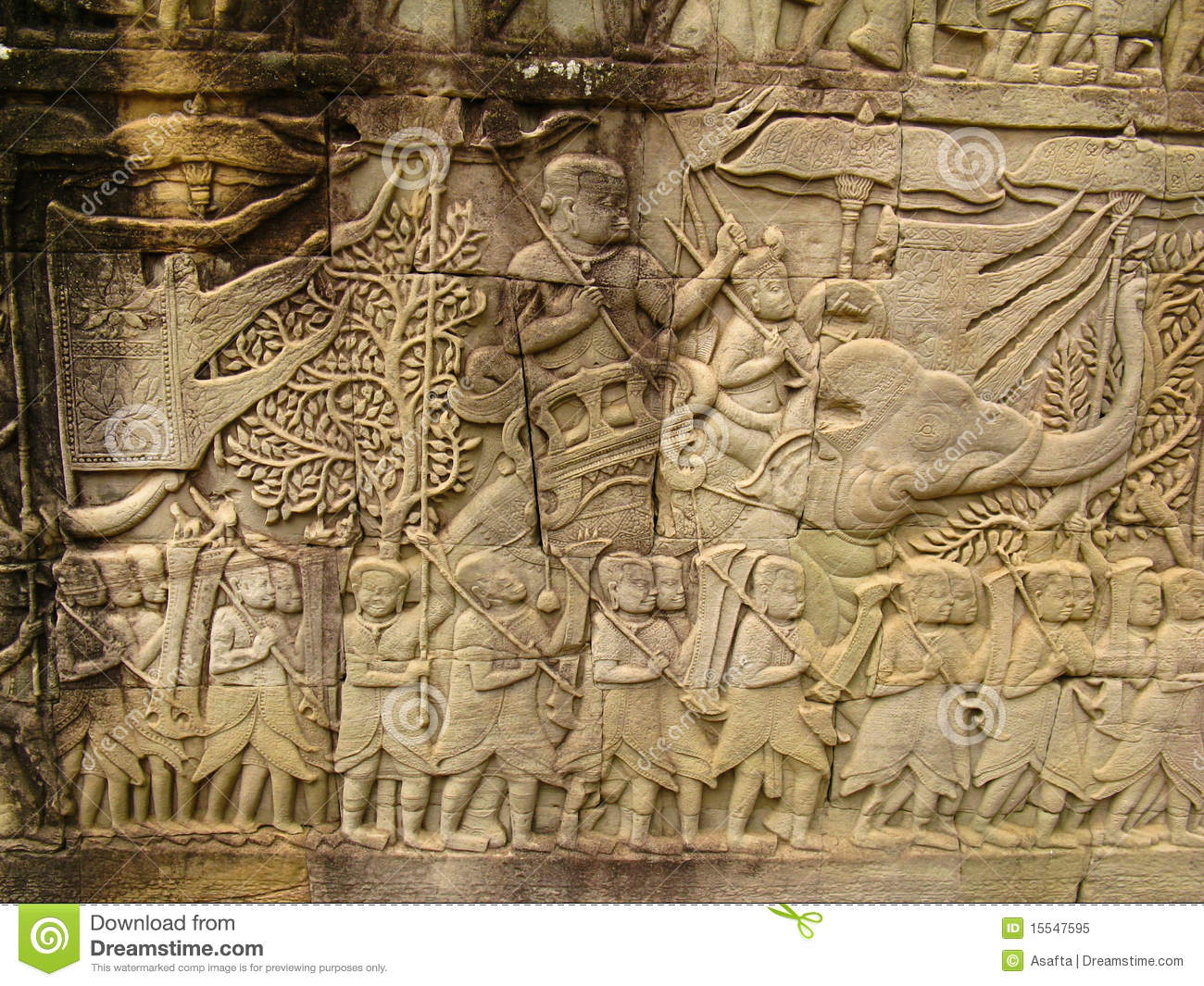 Stone carvings angkor wat royalty free stock photo