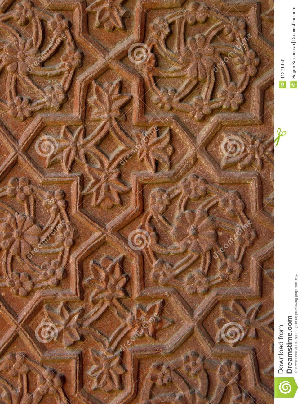 Stone carvings on the temple wall india stock image