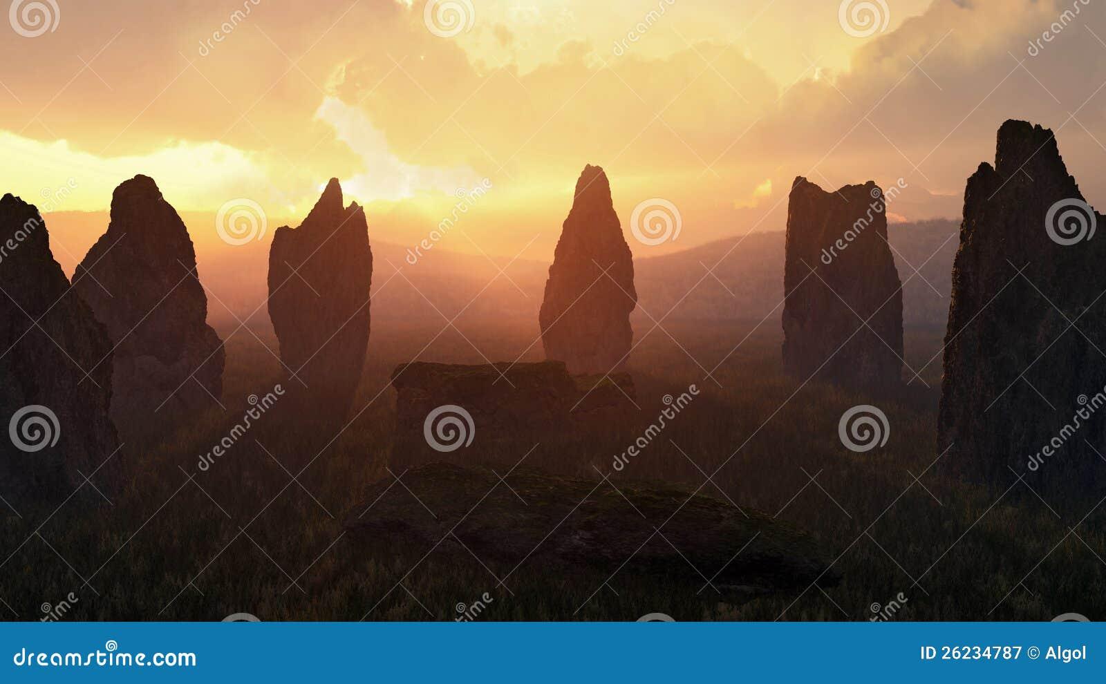 Stone Circle at Sunset