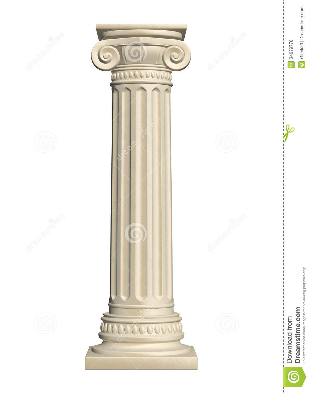 Interior Decoration Of Home Stone Column Stock Illustration Illustration Of Nobody