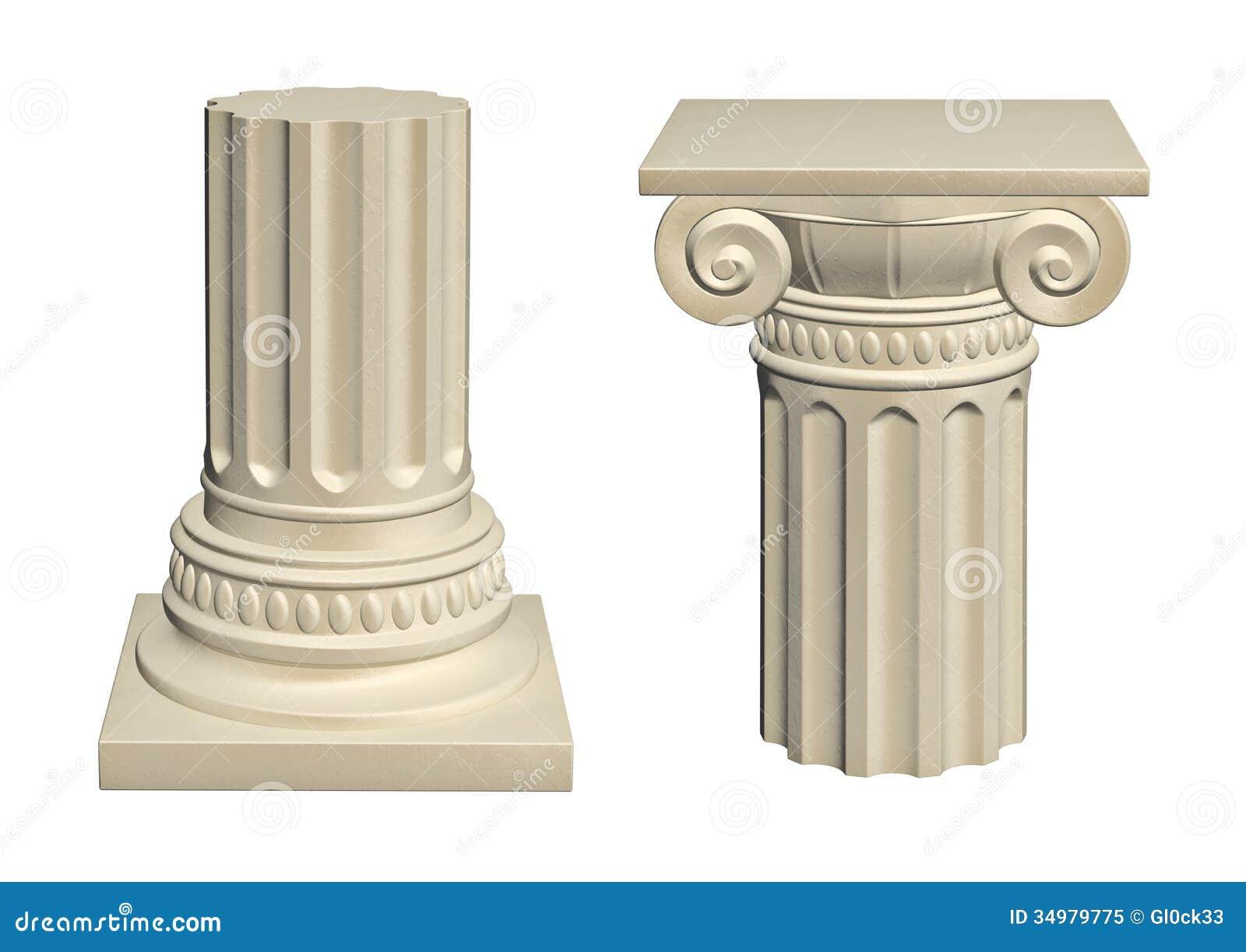 Stone Column Stock Illustration Image Of Antique Rome