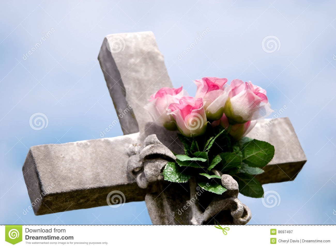 stone cross with pink roses royalty free stock photography tombstone vector logo tombstone vector icon