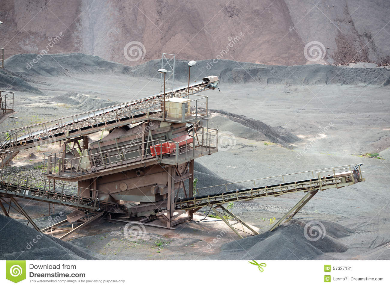 Stone Crusher Machine In An Open Pit Mine Stock Photo Image 57327181