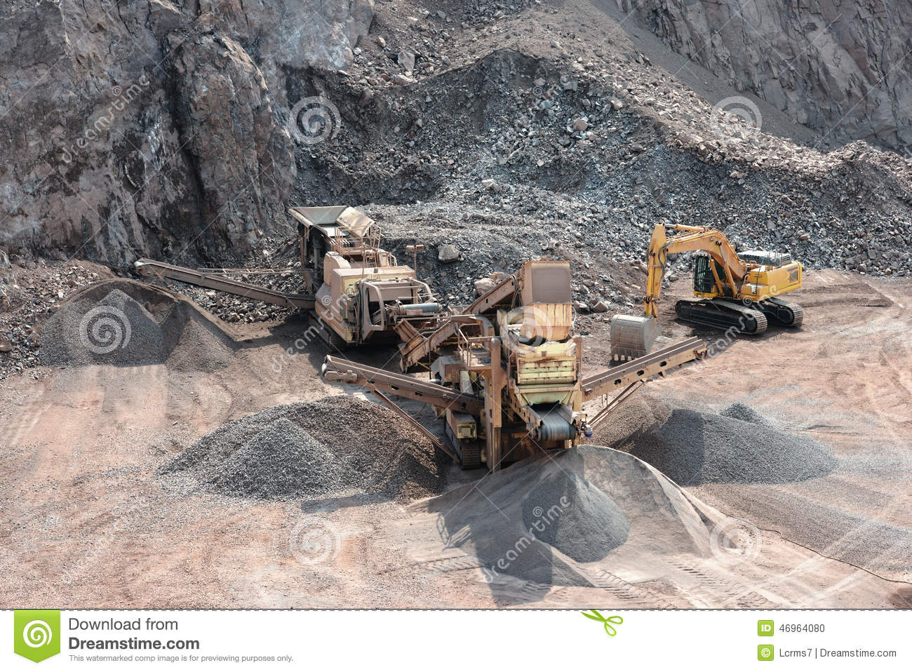 Stone crusher in surface mine