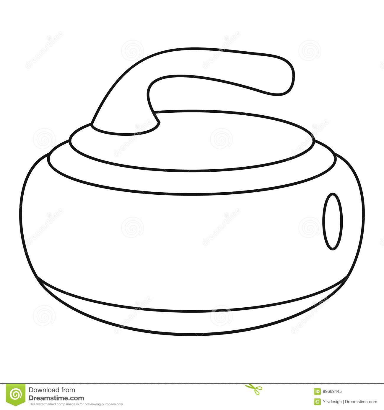 Curling Stone On A Game Sheet Stock Photo Cartoondealer