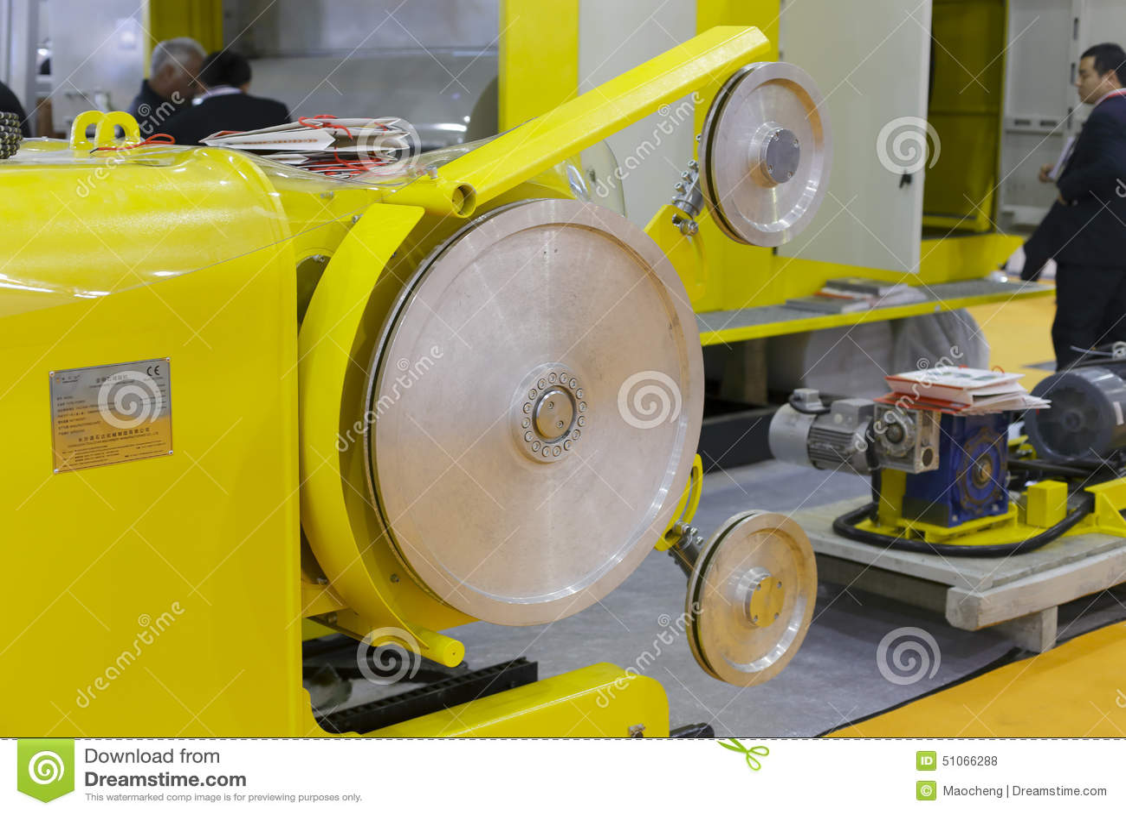 Stone Cutting Machine ( By Diamond Wire Saw ) Editorial Stock Photo ...
