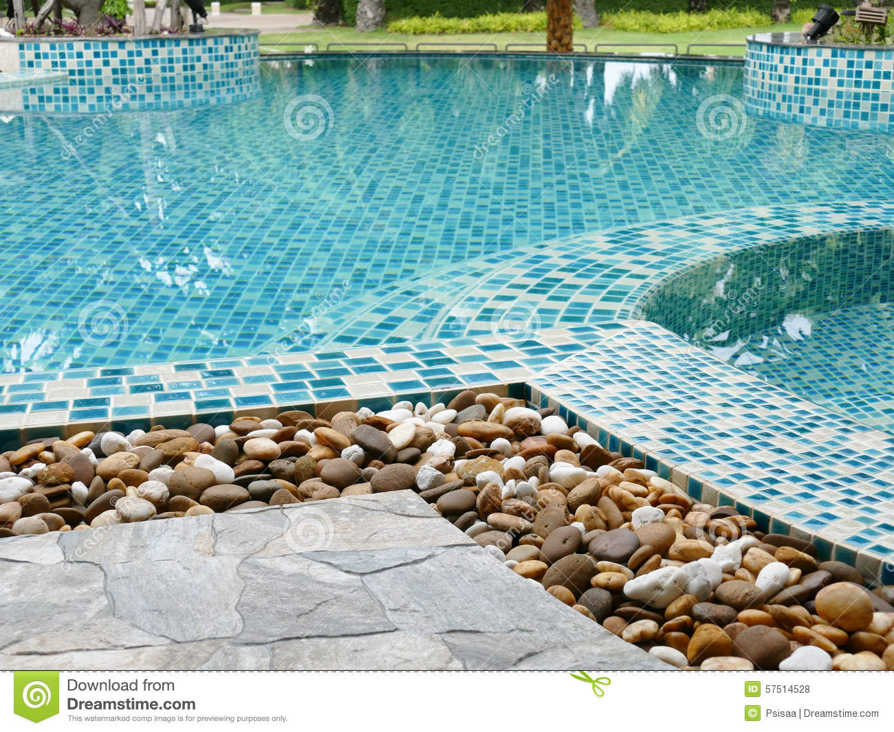Stone on the edge of the swimming pool stock photo image for Stone swimming pool