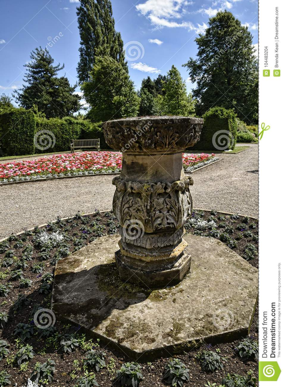 Stone Feature In Beautiful Garden In West Yorkshire England ...