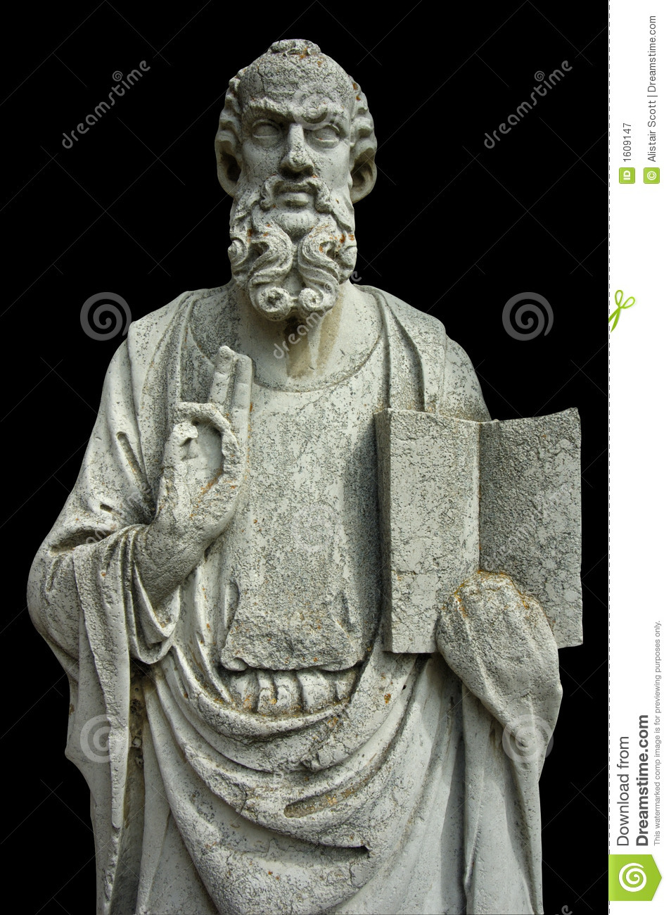 Download Stone figure stock image. Image of marble, bearded, holding - 1609147