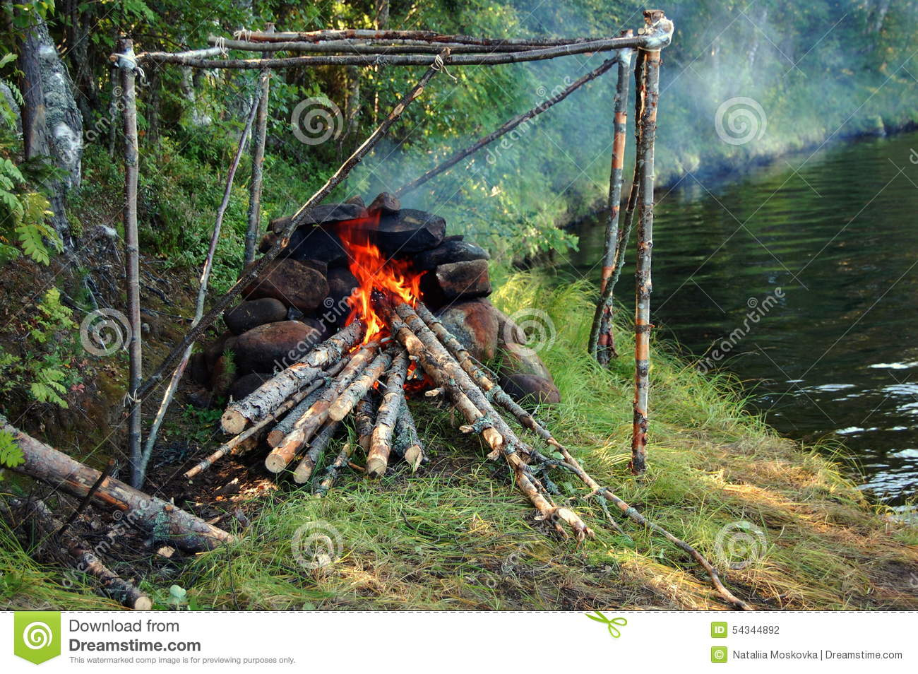 stone fireplace for self made russian bath stock photo image