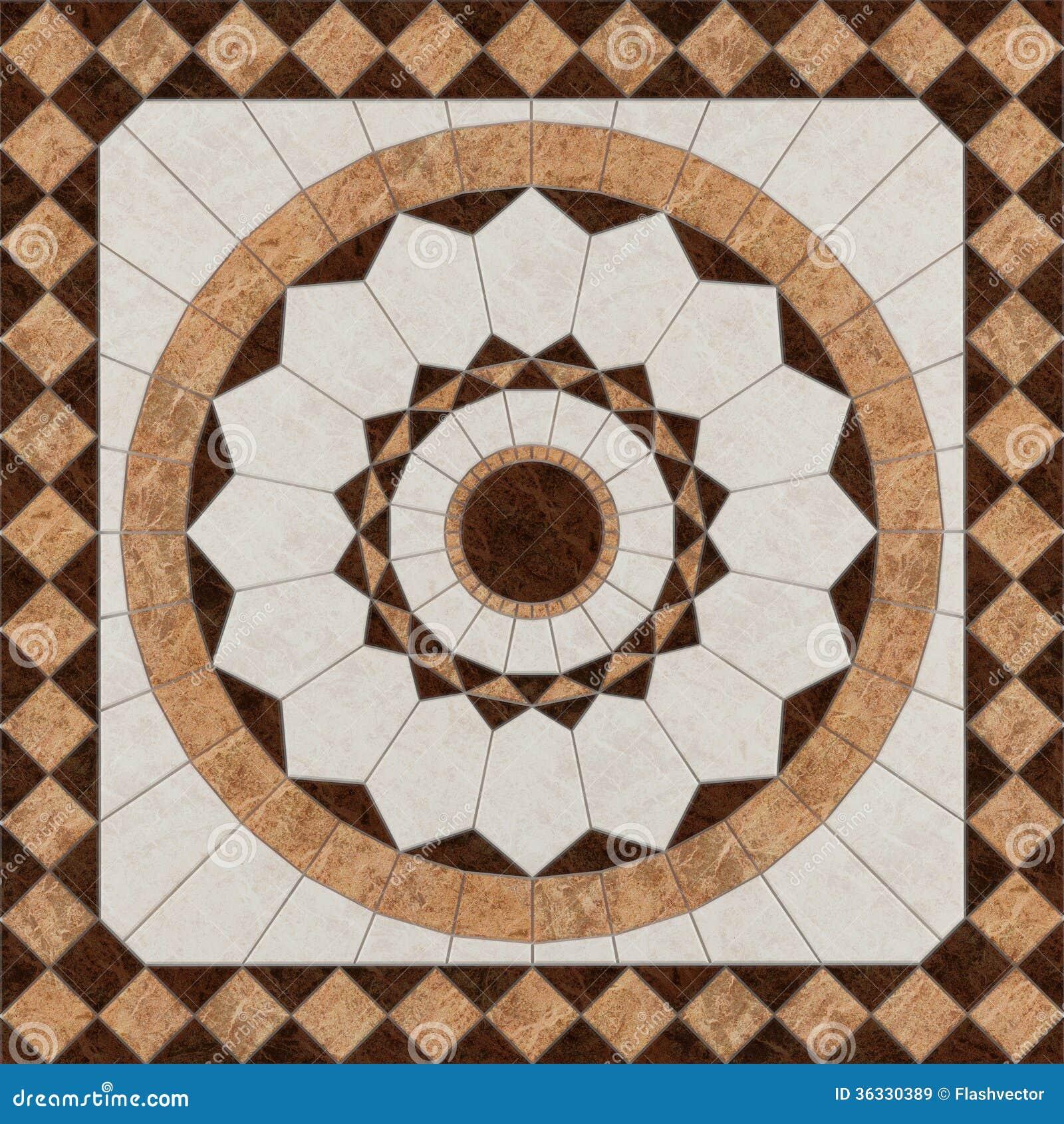 Marble Floor Patterns : Stone floor pattern tiles stock illustration
