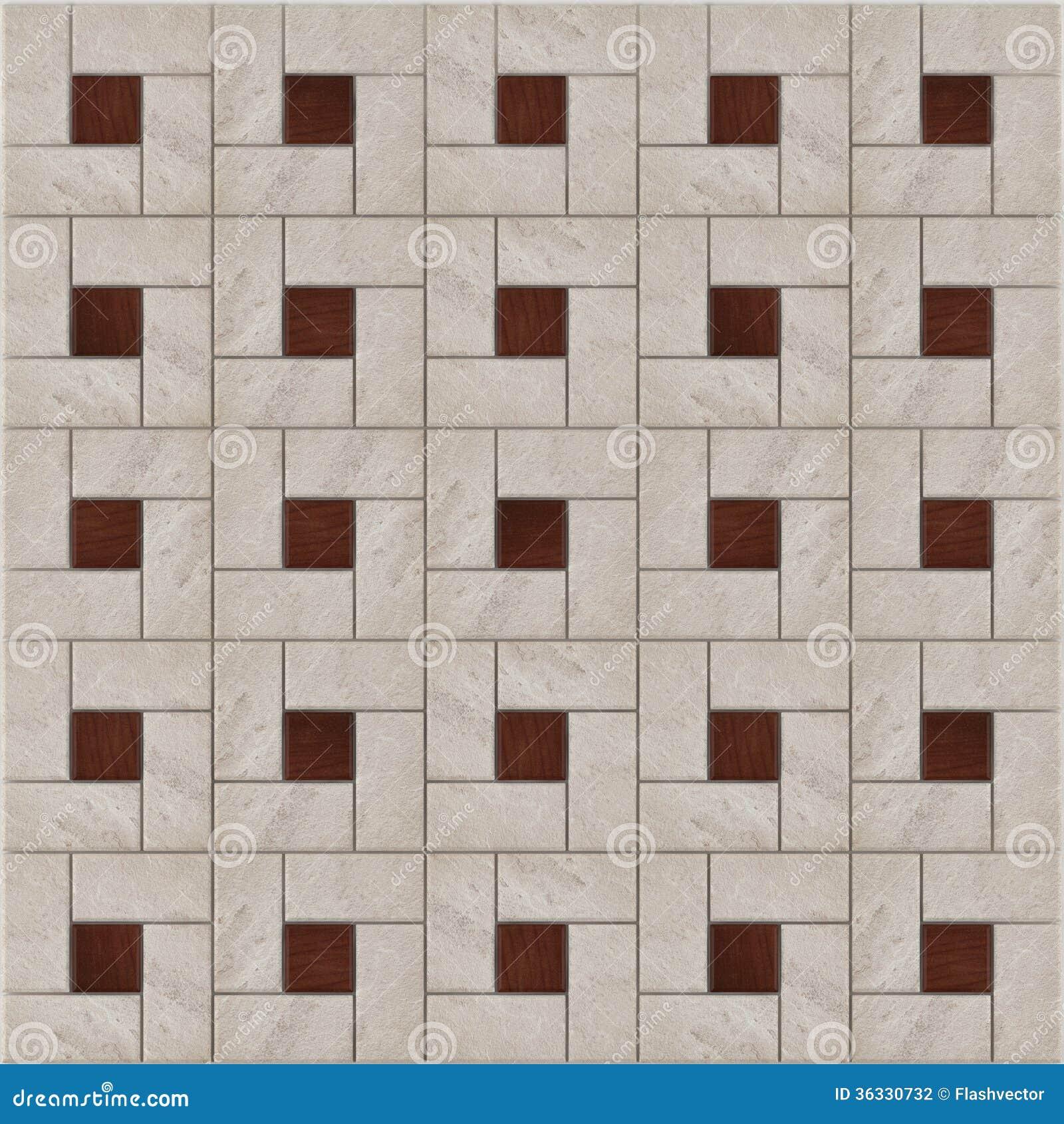 Stone Floor Patterns : Stone floor pattern tiles stock illustration