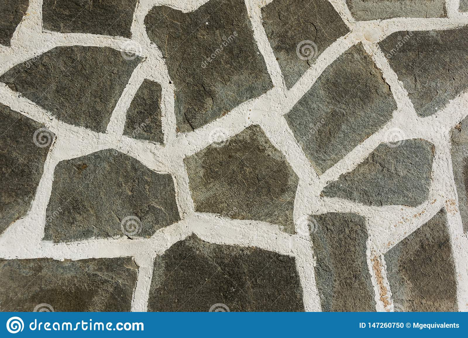 Stone Floor With White Seams  Abstraction Stock Photo
