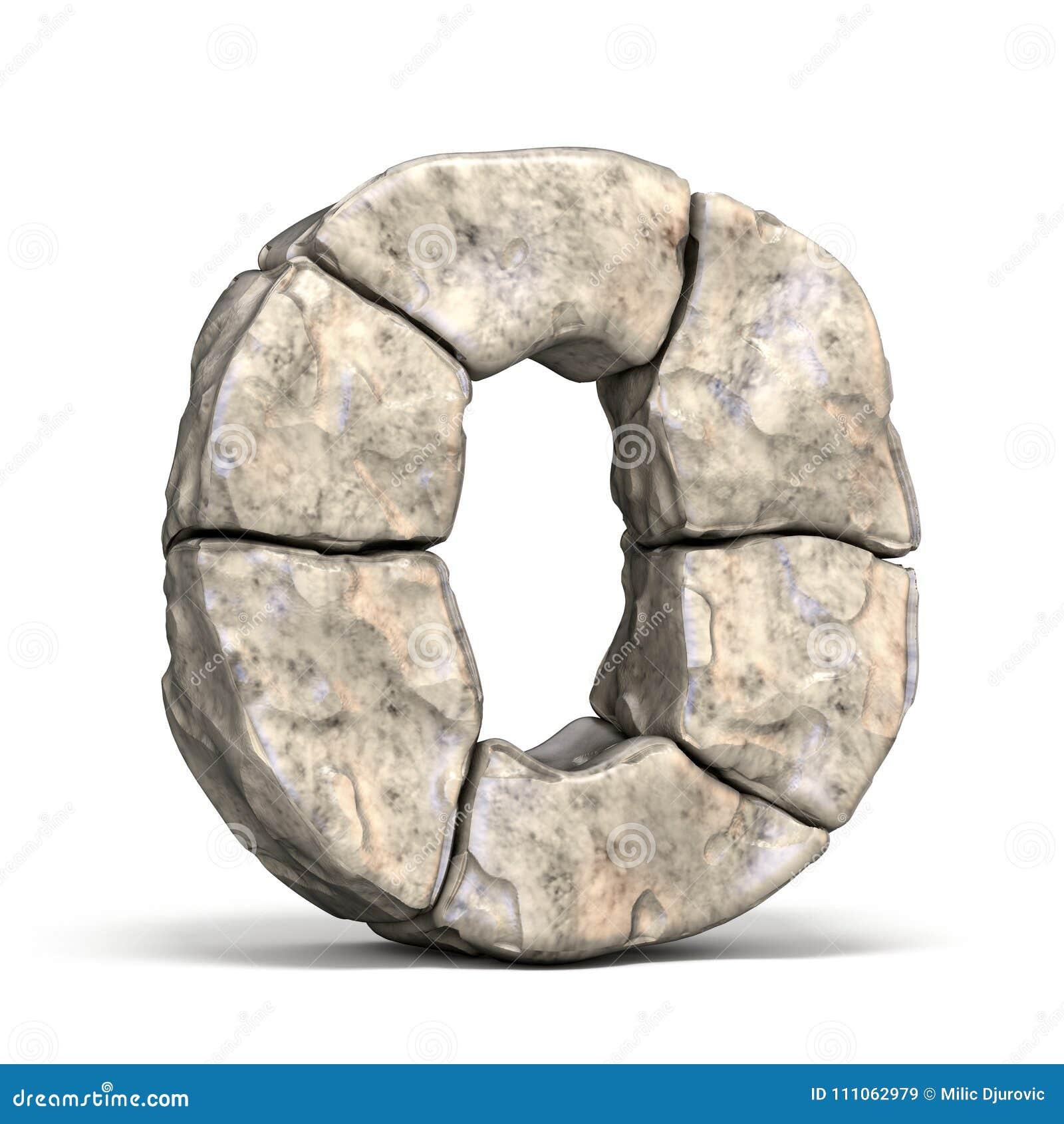 Stone font letter O 3D