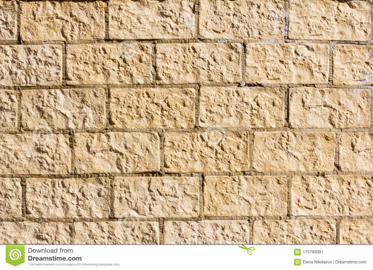 Stone Foundation, The Texture Of Decorative Stone, Painted In Yellow ...