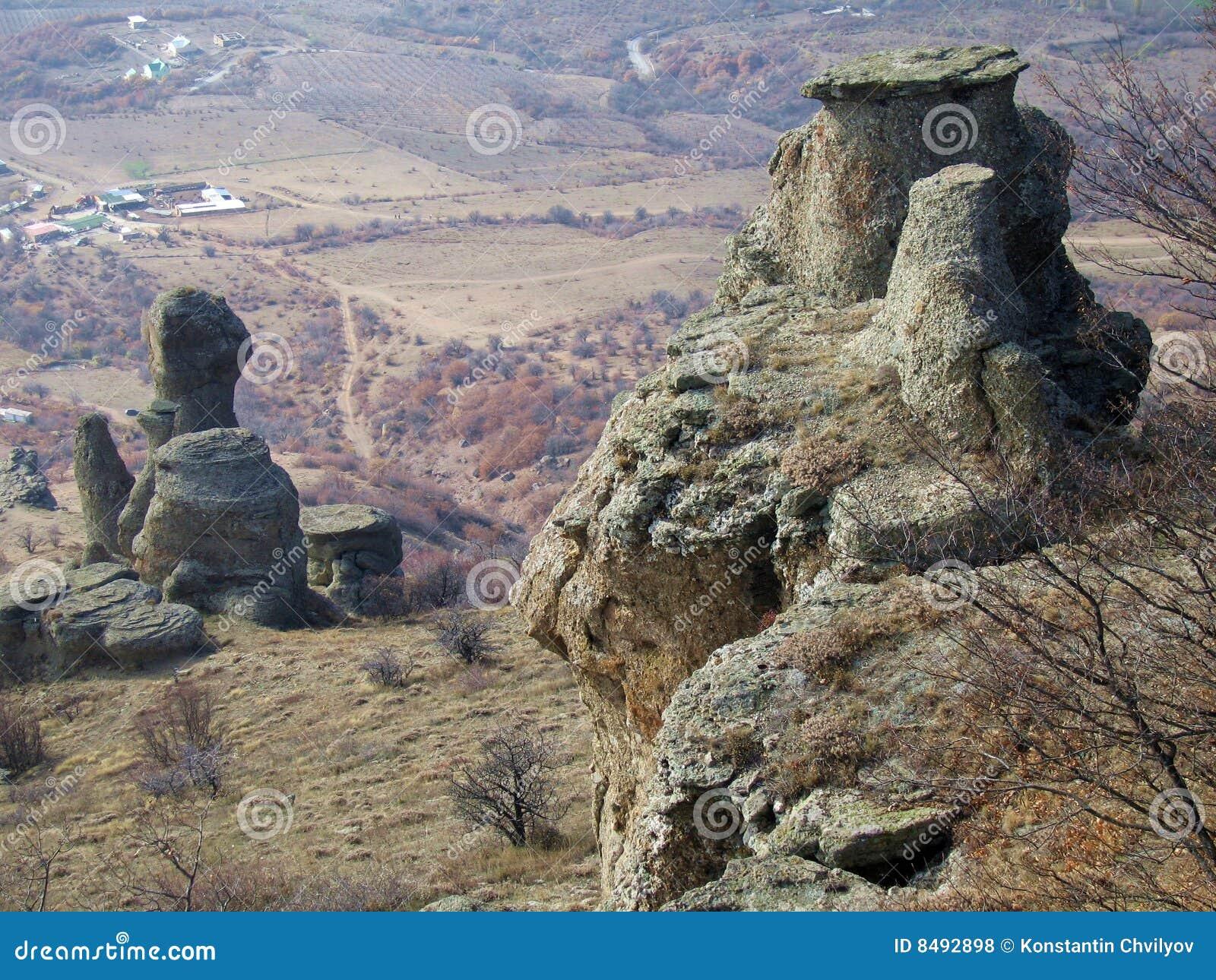 Stone Ghosts Vally. Demerdzhi Mountain Rocks.