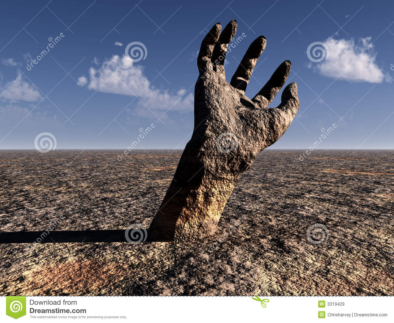 Stone Hand 2 stock illustration. Illustration of outreach ...