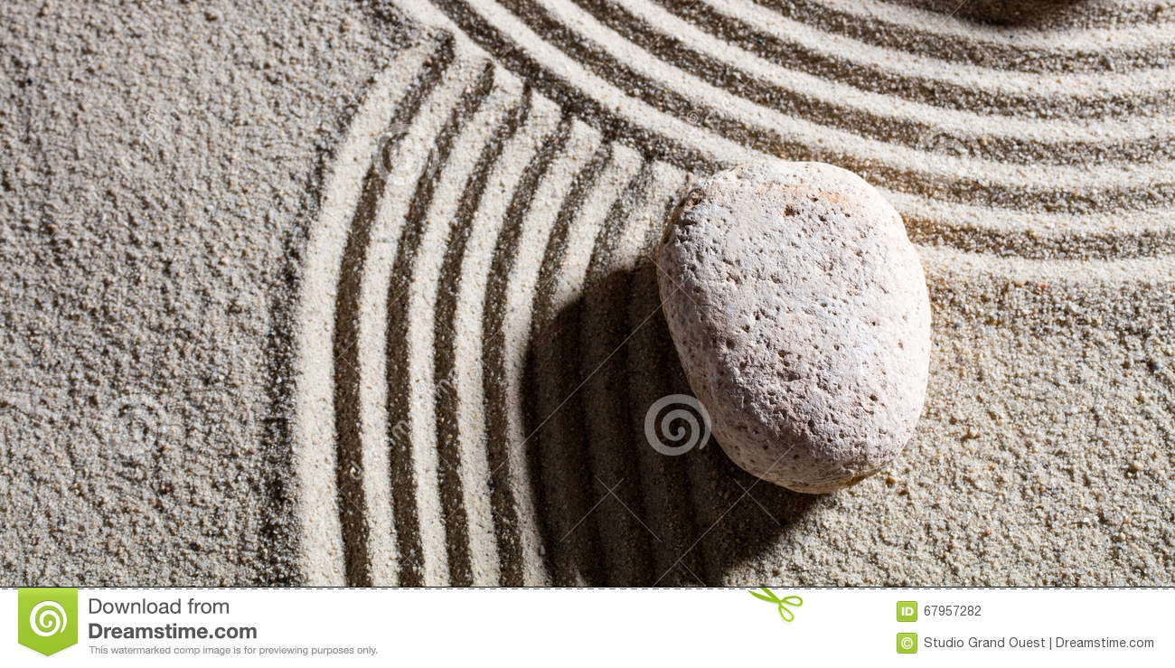 Download Stone At Intersection Of Different Roads For Flexibility With Serenity Stock Photo - Image of design, lines: 67957282