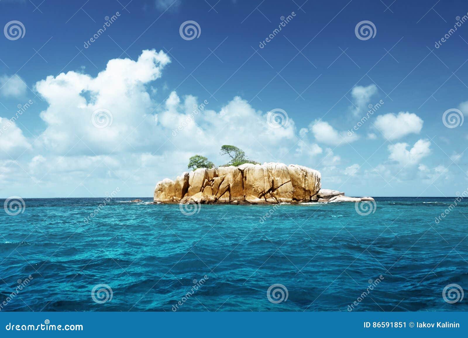 Stone Island At Seychelles Stock Image Image Of Seychelles