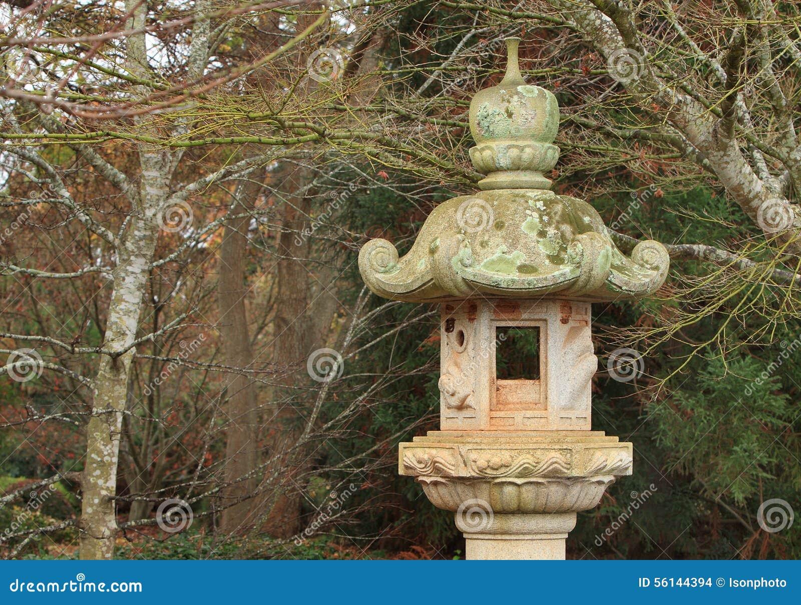 stone japanese lantern stock photo image 56144394. Black Bedroom Furniture Sets. Home Design Ideas