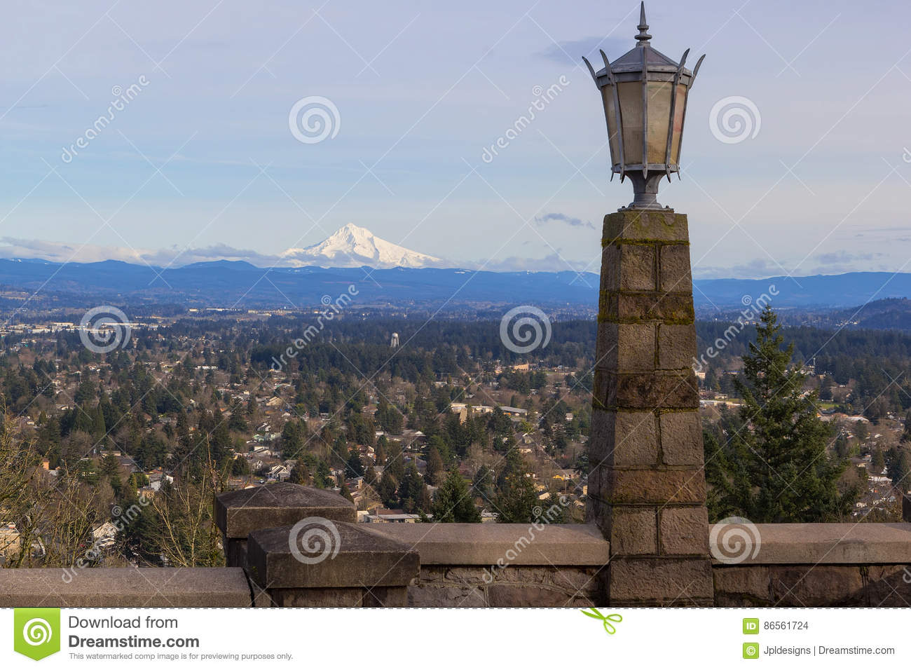 Stone Lamp Post At Rocky Butte Stock Photo - Image: 86561724 for Stone Lamp Post  173lyp