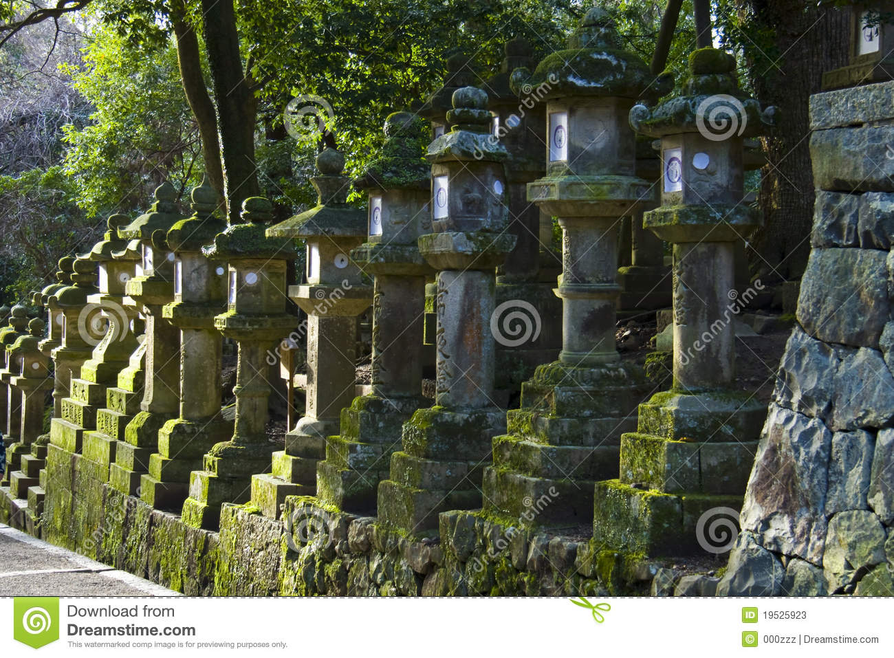Stone lanterns Kasuga Taisha Shrine Nara Japan