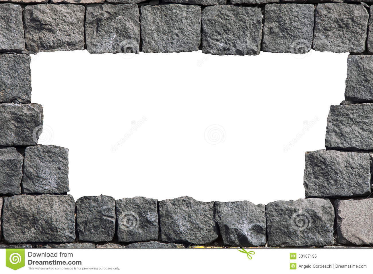 Stone Lava Wall Frame With Empty Hole Stock Photo - Illustration of ...
