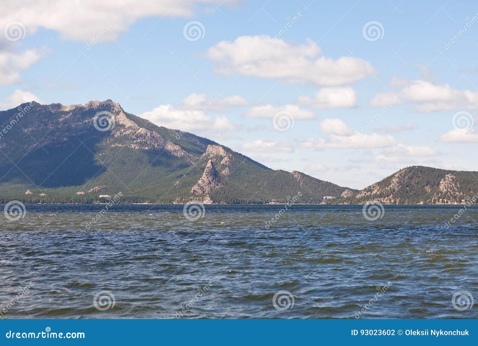 Stone Mountain Hills With Gorest On Lake Borovoe Stock Photo Image
