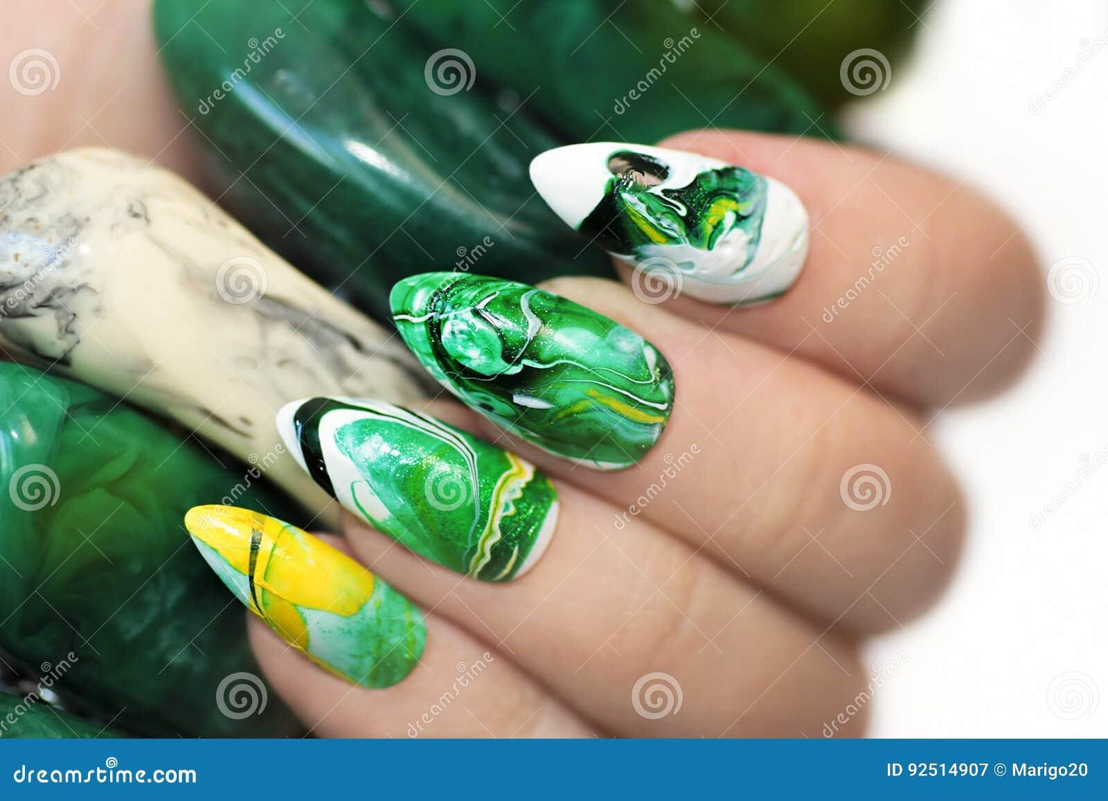 Stone nail design. stock image. Image of fashion, fingers - 92514907