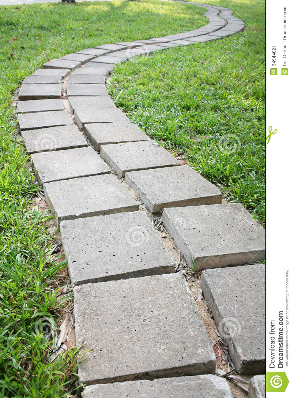 Stone path stock image image 34944021 for Stone path in grass