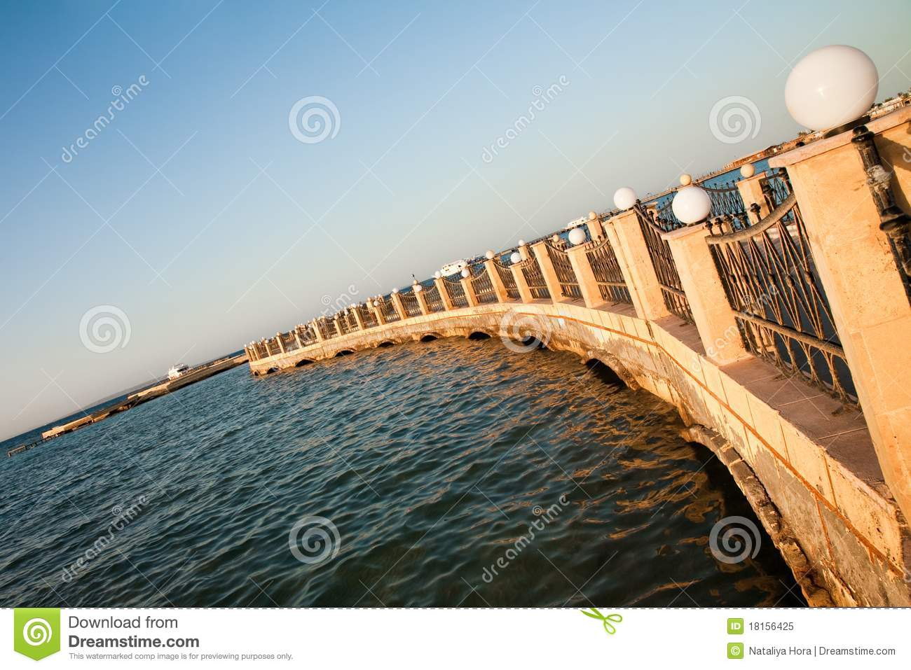 Stone pier on the Red sea