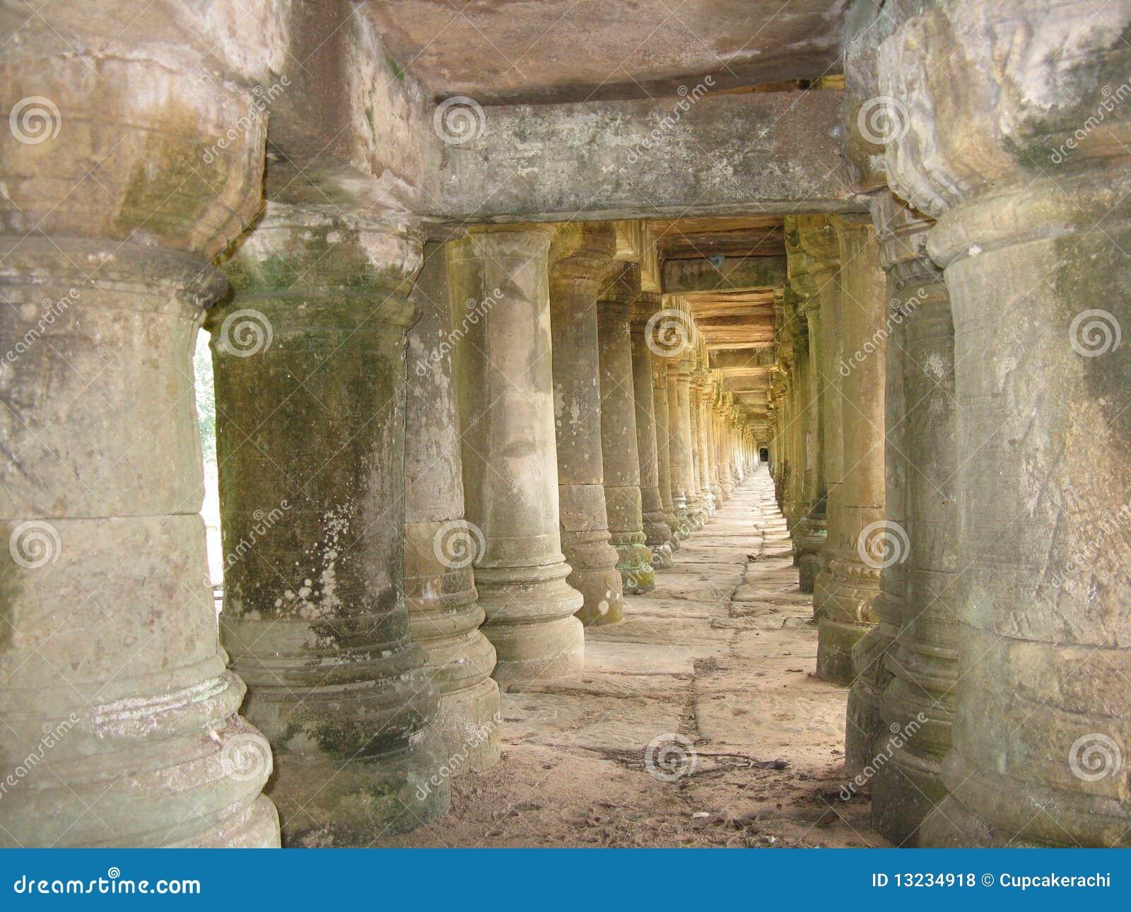 Ancient Stone Pillars : Stone pillars stock photo image of ruin ancient ankor