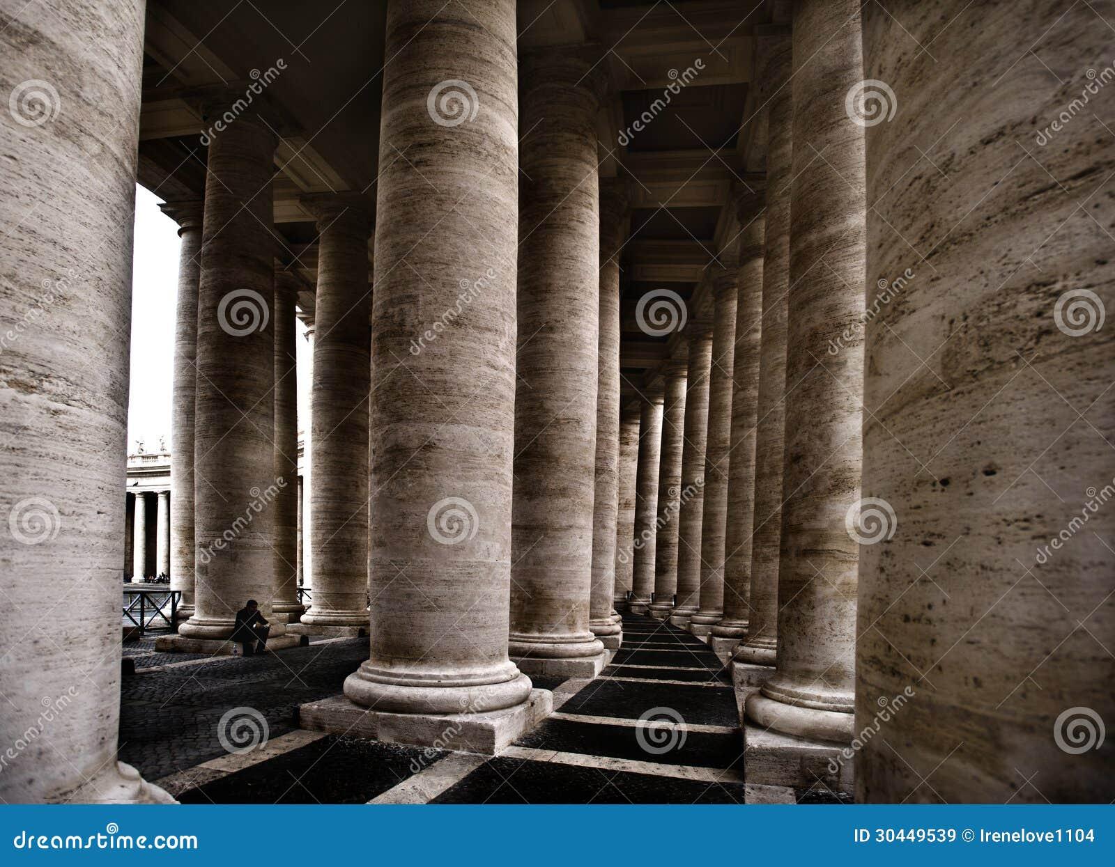Old Stone Pillars : Stone pillars stock image of decoration church