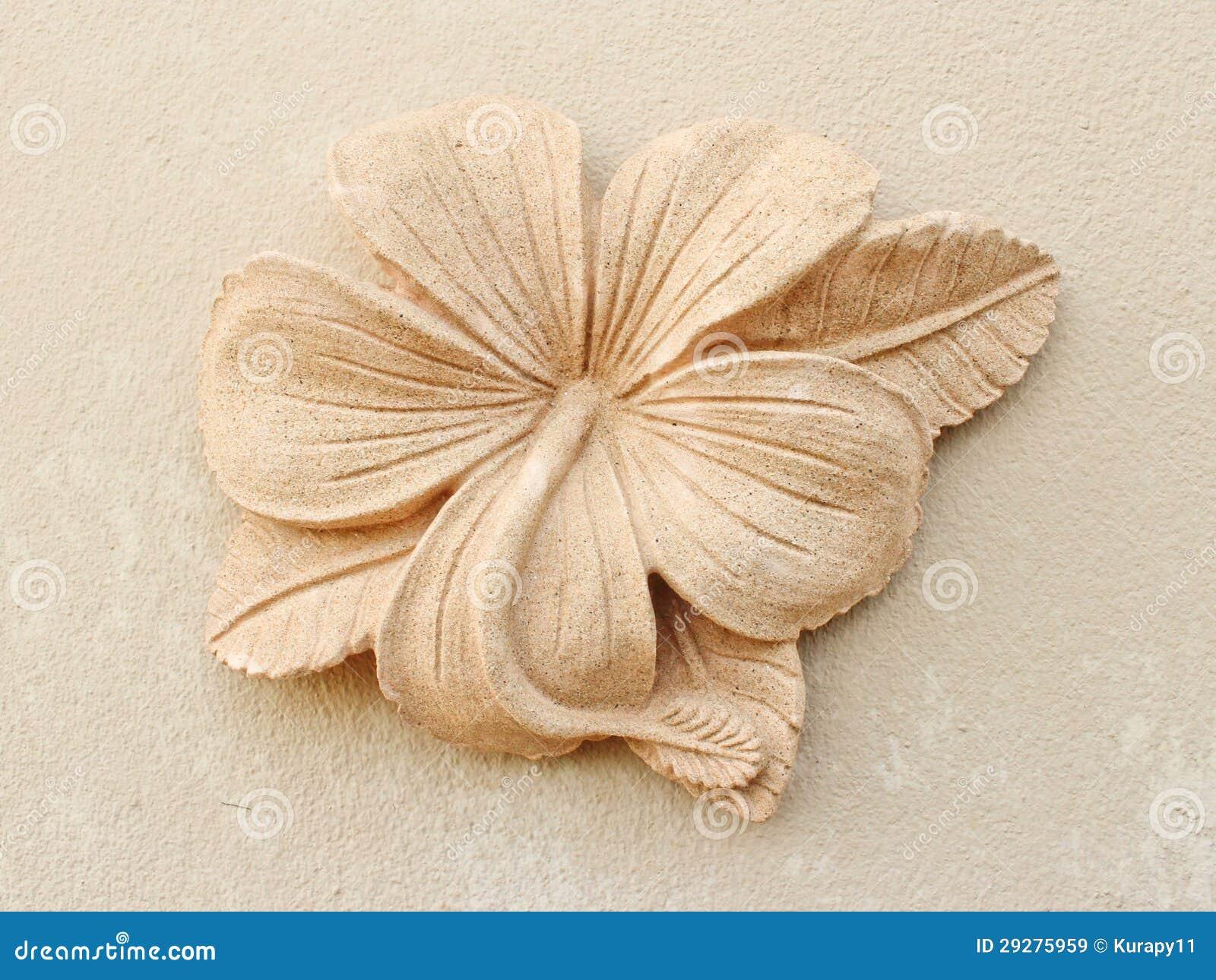 Stone Plumeria Craft Art Design Stock Image Image Of Ordered Neat