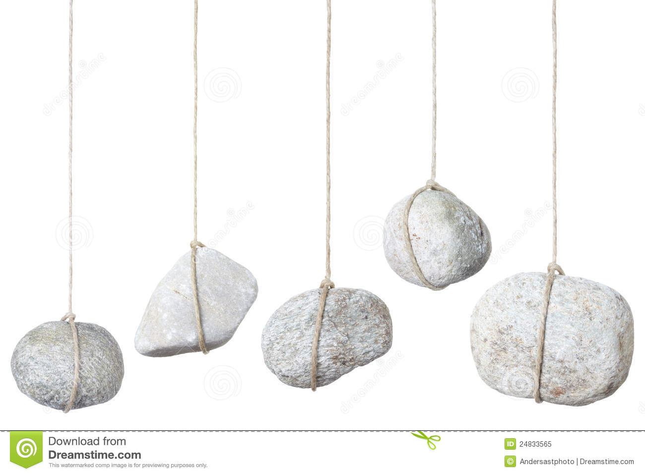 Stone Rock Hanging By A String Stock Image Image 24833565