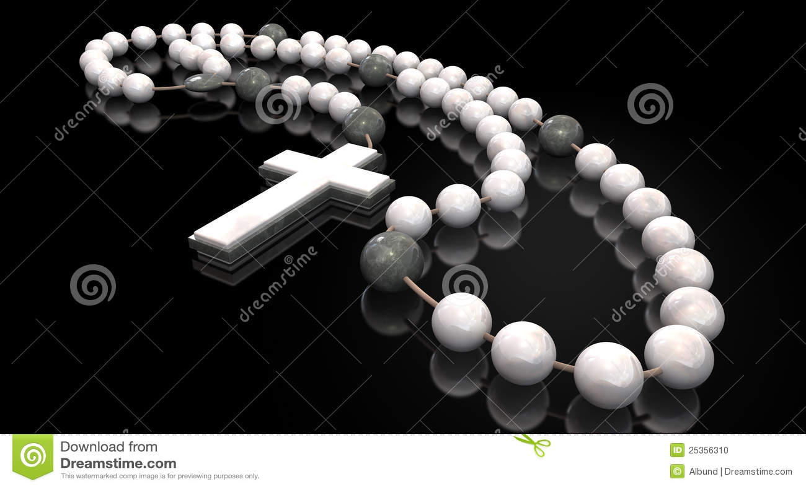 Stone Rosary Beads Stock Photo Image 25356310