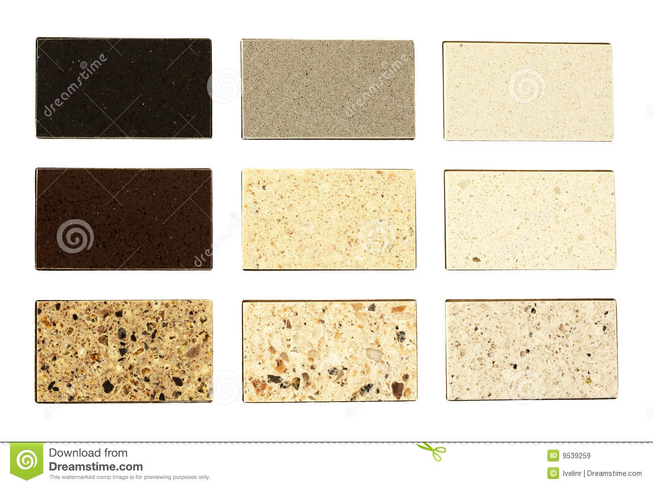 Stone samples for kitchen countertops royalty free stock for Kitchen samples