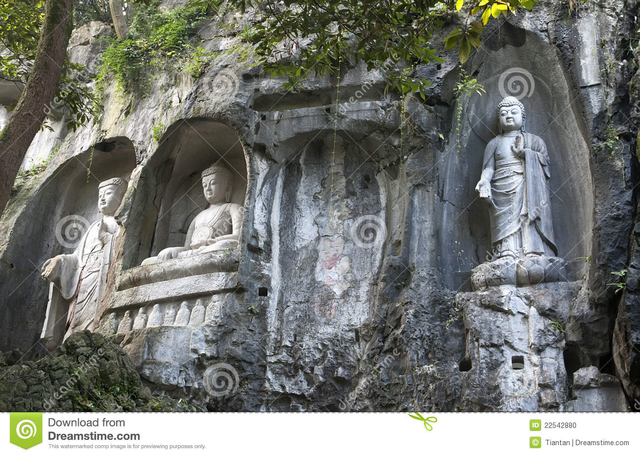 Stone Sculpture Of Buddha Stock Photo Image Of Feng 22542880