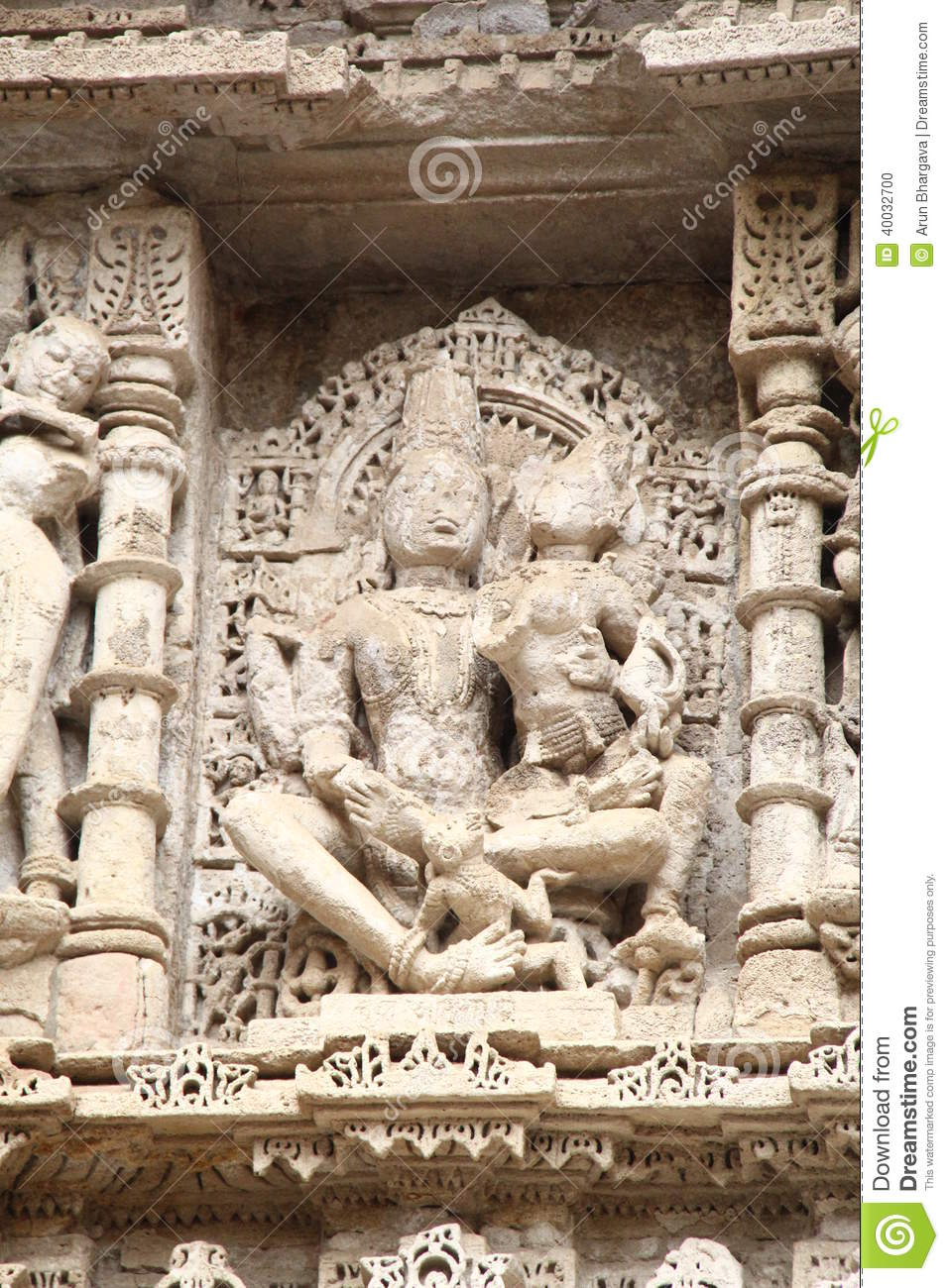 Stone sculptures of medieval india stock photo image