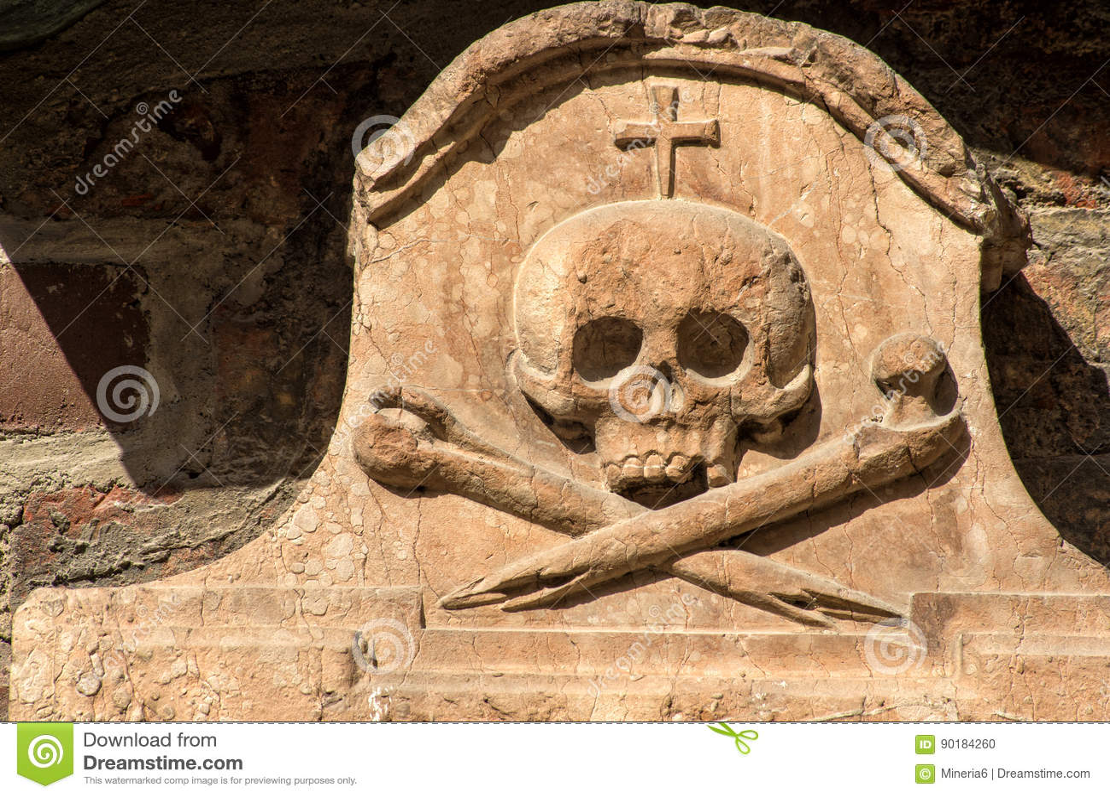Stone skull stock photo  Image of funeral, human, religion - 90184260